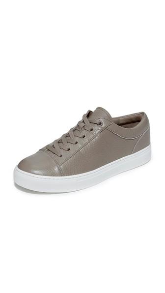 Vince Afton-3 Leather Low-top Sneakers In Woodsmoke