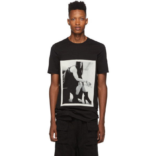 Rick Owens Drkshdw Oversized Photo Print T-Shirt In 09 Blk