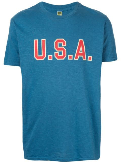 Velva Sheen Usa T-shirt In Blue