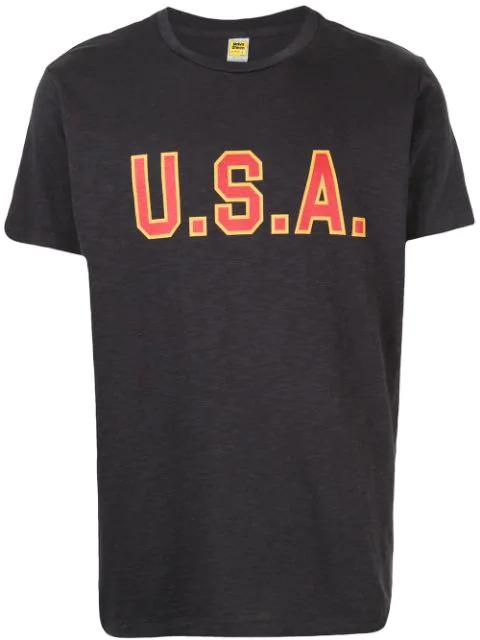 Velva Sheen Usa T-shirt In Grey