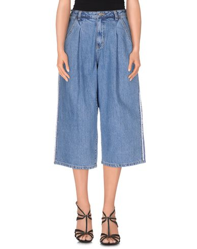 Sjyp Denim Trousers In Blue
