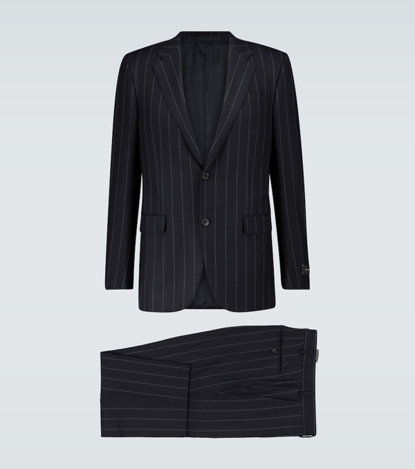 Ermenegildo Zegna Super Subtle Single-breasted Suit In Blue