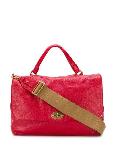 Zanellato Postina Leather Bag In Rosso