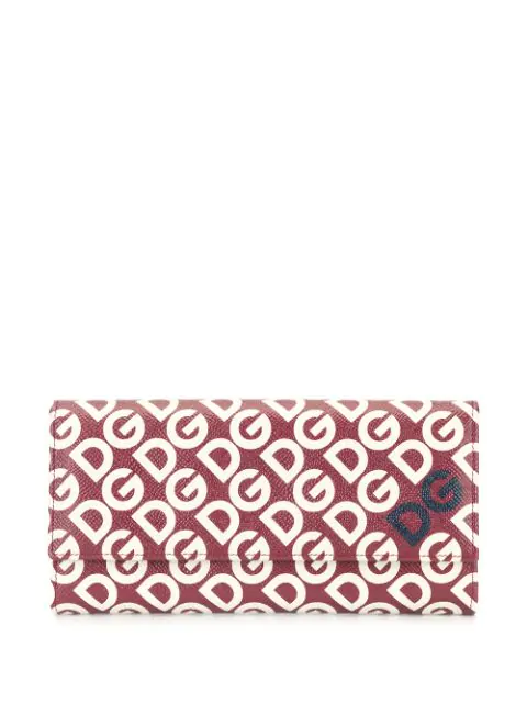 Dolce & Gabbana Logo Print Continental Wallet In Red