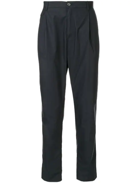 Dolce & Gabbana Straight-leg Trousers In Black