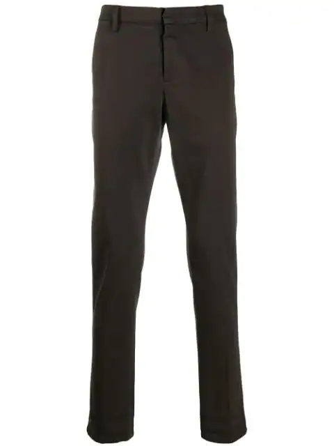 Dondup Slim-fit Gaubert Trousers In Brown