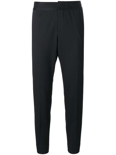 Dsquared2 Embroidered Waistband Trousers In Black