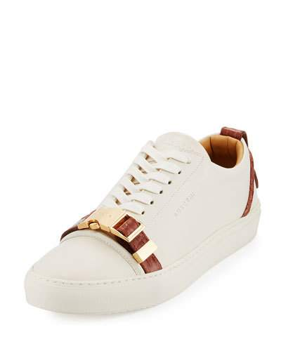 promo code 5808f 2bb98 Buscemi Men s 50Mm Low-Top Sneaker With Croc-Embossed Leather Details, Off  White