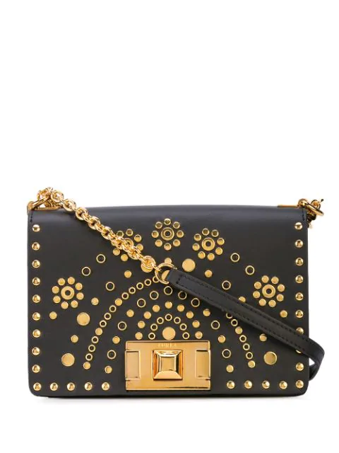 Furla Studded Mini Shoulder Bag In Black