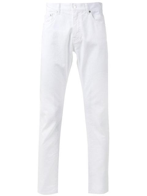 Msgm Straight-leg Jeans In Bianco