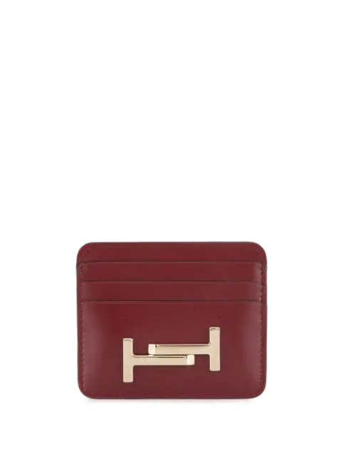 Tod's Double T Cardholder In Red