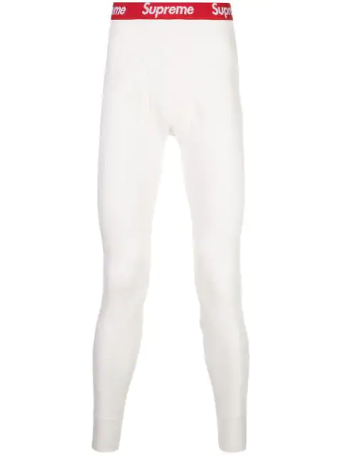 Supreme Hanes Thermal Pants In White