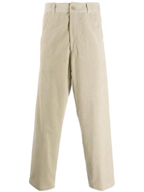 Haider Ackermann Workwear Cotton-corduroy Straight-leg Pants In 007 - Beige