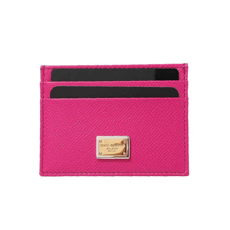 Dolce & Gabbana Card Holder In Rosa