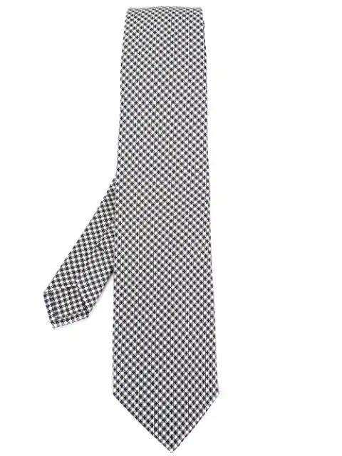 Etro Houndstooth Pattern Tie - Black