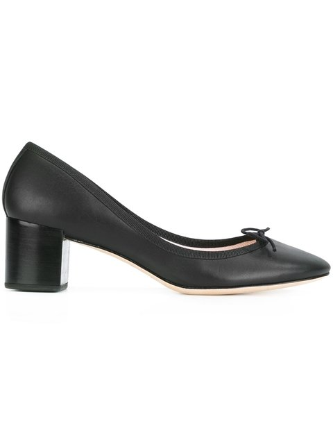 Repetto Bow Detail Pumps In Black