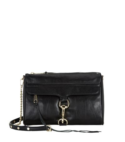 Rebecca Minkoff 'M.A.C.' Climbing Rope Strap Mini Leather Crossbody Bag In Black