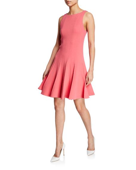 Armani Collezioni Emporio Armani Wool Fit-and-flare Dress In Strawberry