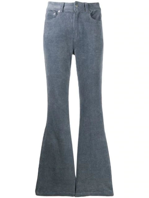 Neul Flared Corduroy Trousers In Blue