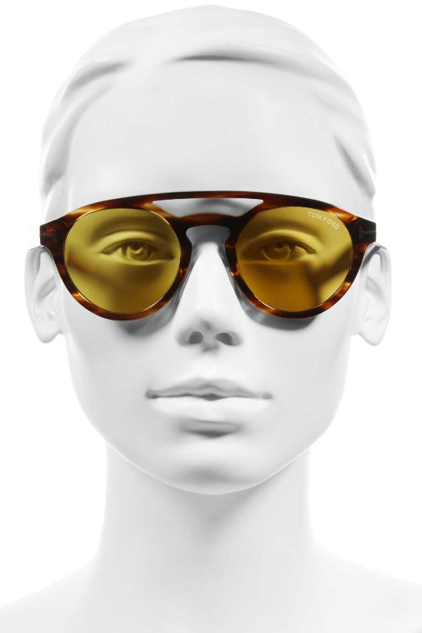 Tom Ford Clint 50Mm Aviator Sunglasses In Sdbrn-Brn