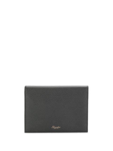 Pineider Bi-fold Logo Cardholder In Black