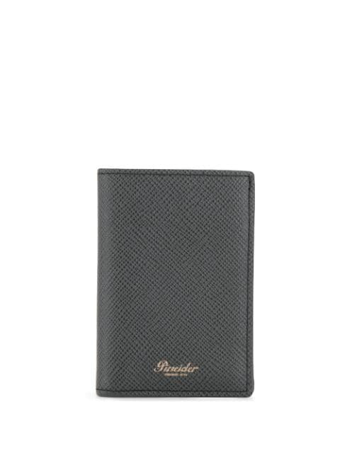 Pineider 720 Bi-fold Wallet In Black