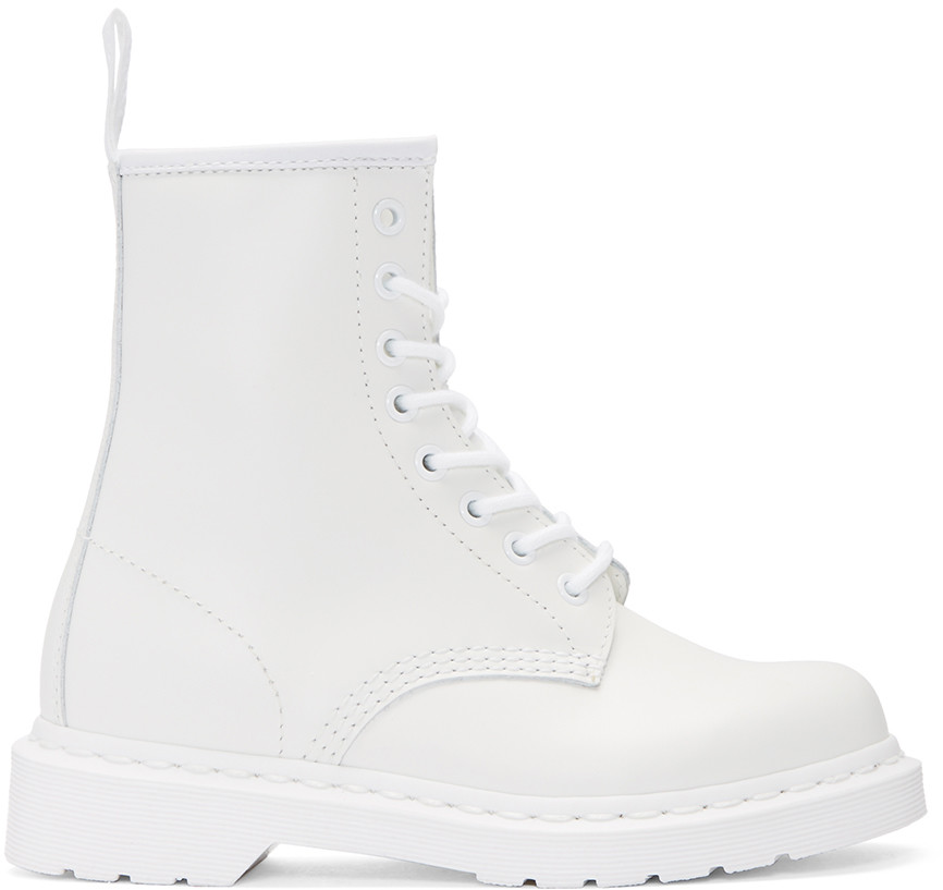 Dr. Martens White Leather 1460 Boots