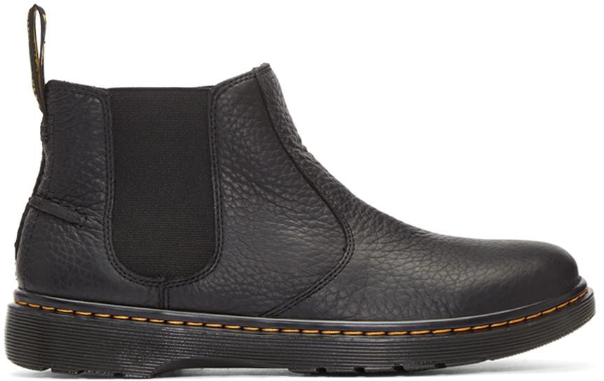 Dr. Martens Black Lyme Boots In Black - Black