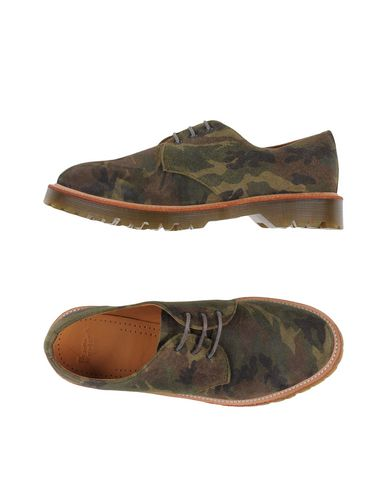 Dr. Martens Laced Shoes In Military Green