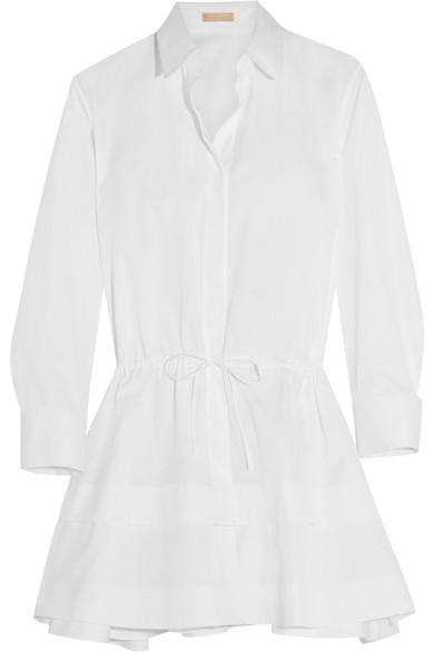 AlaÏa Tiered Cotton-poplin Shirt