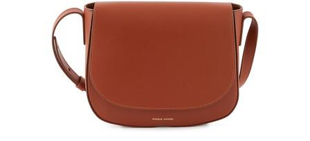 Mansur Gavriel Calf Leather Crossbody Bag In Ginger