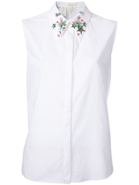 Delpozo Embroidered Collar Shirt
