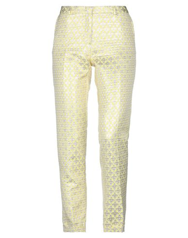 Monocrom Casual Pants In Yellow