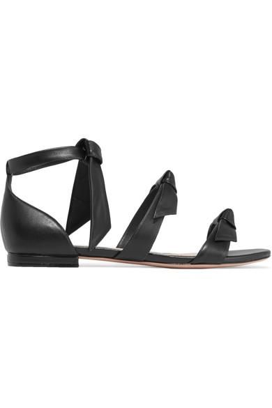 Alexandre Birman Lolita Bow-embellished Leather Sandals In Black