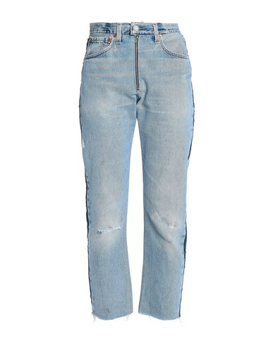 Re/done With Levi's Denim Pants In Blue