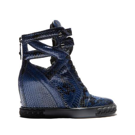 Casadei Cut-Out Wedge Hi-Top Sneakers In Gotham