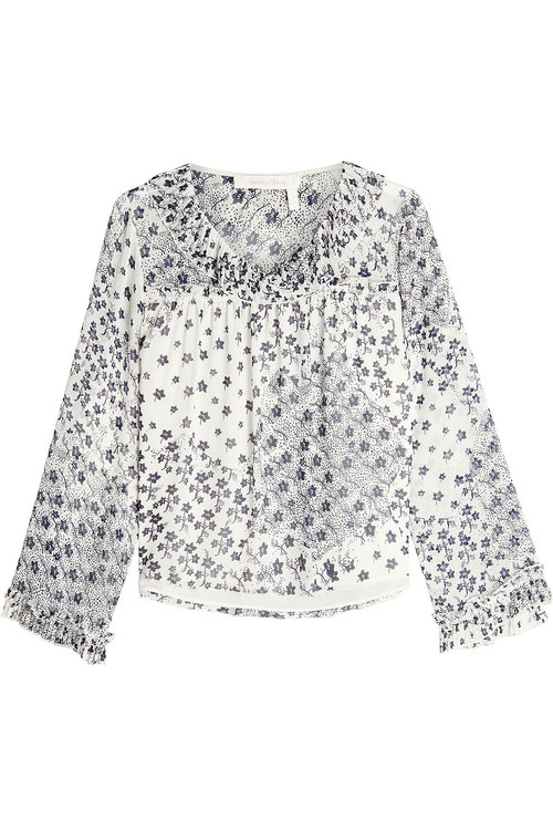 See By ChloÉ Printed Blouse In Blue
