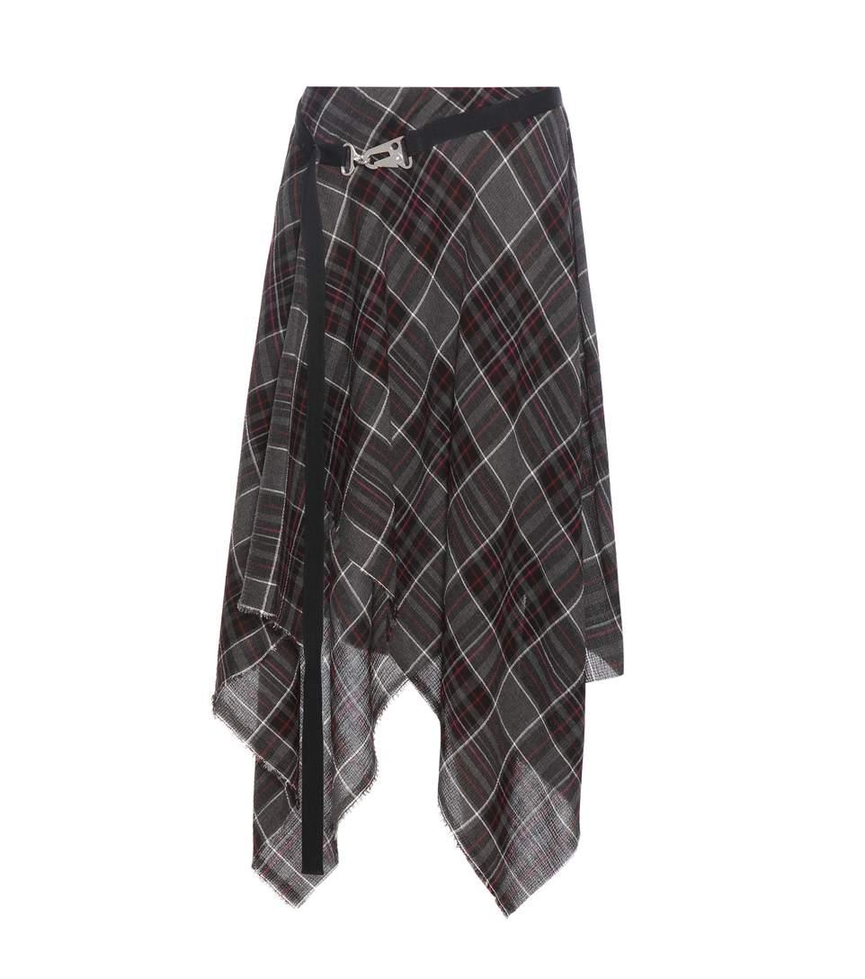 Public School Exclusive To Mytheresa.com – Danen Plaid Skirt In Grey