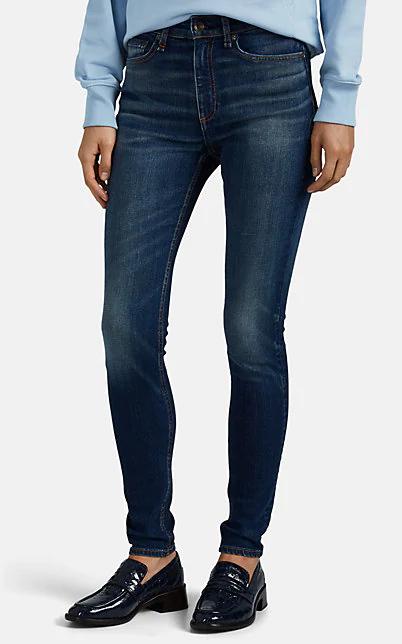 Rag & Bone Nina High Waist Ankle Skinny Jeans In Blue