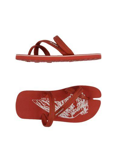 Neil Barrett Flip Flops In Brick Red