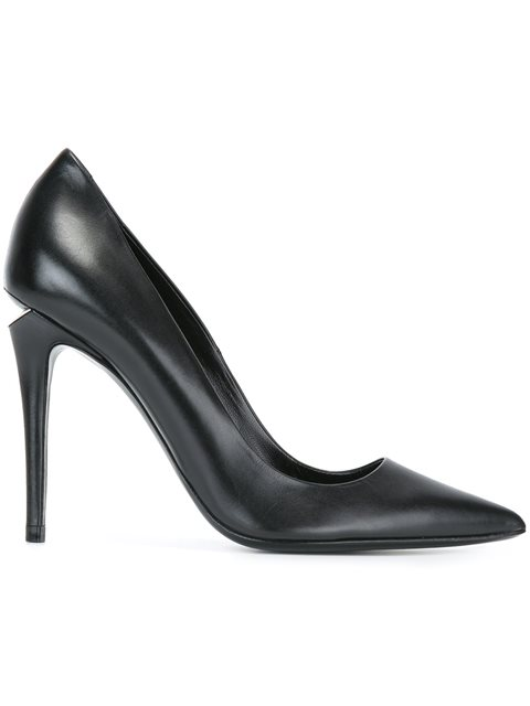 Alexander Wang 'Trista' Cutout Heel Leather Pumps In Black