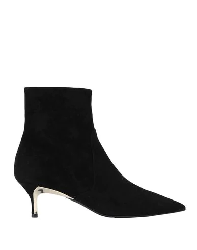 Furla Pointed Ankle Boot Code Model In Black Suede In Nero
