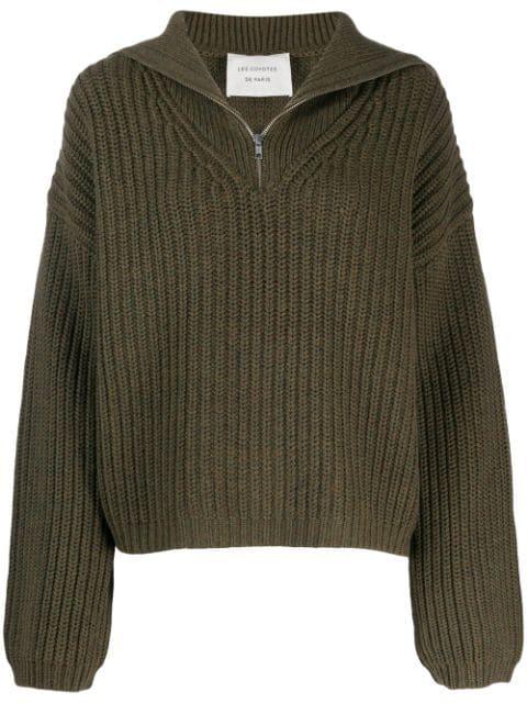 Les Coyotes De Paris Roisin Sweater In Green