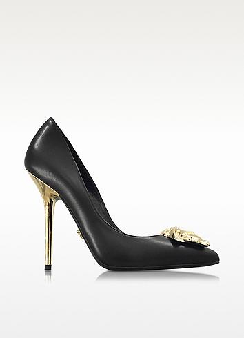 Versace Palazzo Black Stiletto Heel Pumps