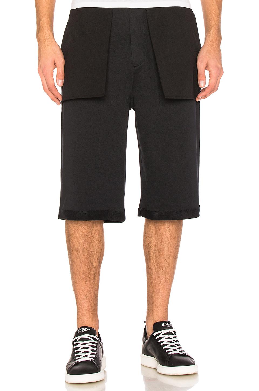 Public School Mono Wide-leg Cotton Shorts In Black