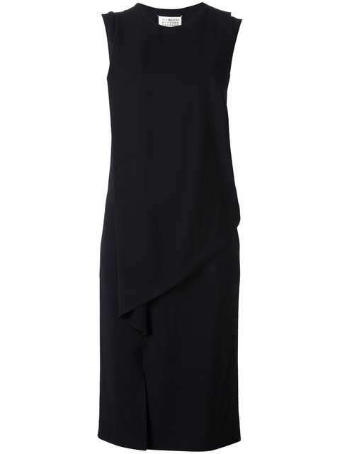Maison Margiela Layered Effect Shift Dress - Blue
