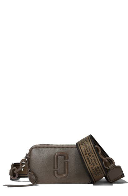 Marc Jacobs Leather Snapshot Camera Cross Body Bag In Brown