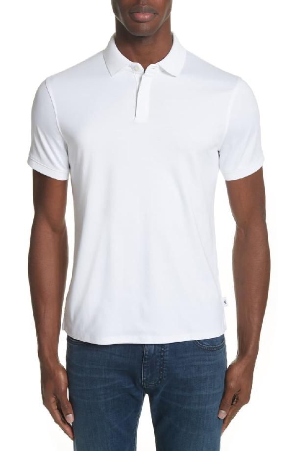 Emporio Armani Men's Basic Cotton Polo Shirt In Solid White