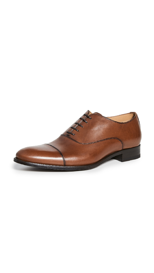 To Boot New York Men's Forley Cap-Toe Leather Oxfords In Butter Cuoio Luc Ant