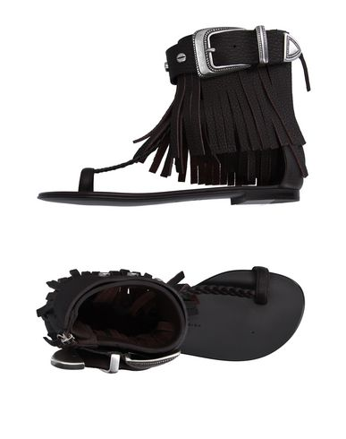 Giuseppe Zanotti Toe Strap Sandals In Dark Brown